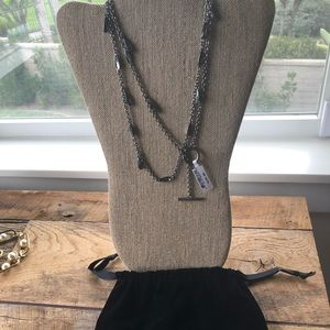 St. John pewter chain necklace